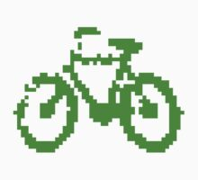 1 bit pixel bike (green) Kids Clothes