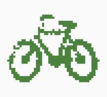 1 bit pixel bike (green) One Piece - Long Sleeve