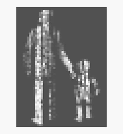 8 bit pixel pedestrians (light) Photographic Print