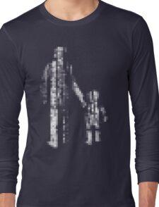 8 bit pixel pedestrians (light) Long Sleeve T-Shirt