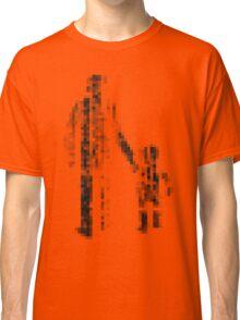 8 bit pixel pedestrians (dark) Classic T-Shirt