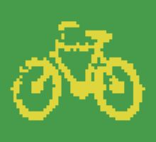 1 bit pixel bike (yellow) Kids Clothes