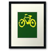 1 bit pixel bike (yellow) Framed Print