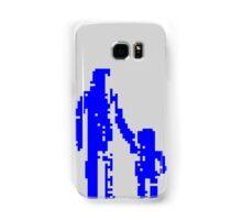 1 bit pixel pedestrians (blue) Samsung Galaxy Case/Skin