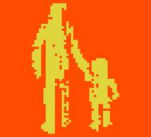 1 bit pixel pedestrians (yellow) by Pekka Nikrus