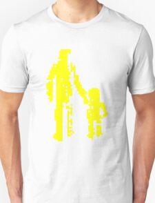 1 bit pixel pedestrians (yellow) T-Shirt