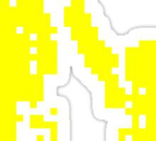 1 bit pixel pedestrians (yellow) Sticker