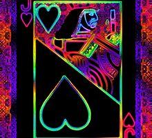 Double Neon Jack of Hearts by ronmockjunior