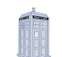 Doctor Who Tardis Typography by Drob288