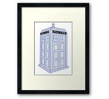Doctor Who Tardis Typography Framed Print