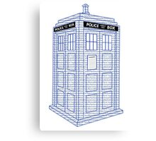 Doctor Who Tardis Typography Canvas Print