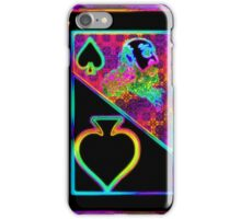 Double Neon Jack of Clubs iPhone Case/Skin