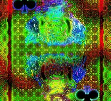 Double Neon King of Clubs by ronmockjunior