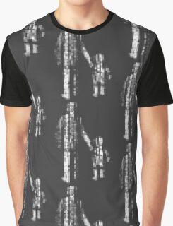 8 bit pixel pedestrians (light) Graphic T-Shirt