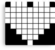 Pixel Heart LCD White Canvas Print