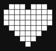 Pixel Heart LCD White by GrizzlyGaz