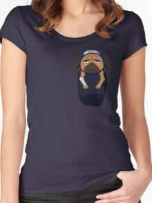 Pakkun in your pocket! Women's Fitted Scoop T-Shirt