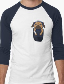 Pakkun in your pocket! Men's Baseball ¾ T-Shirt