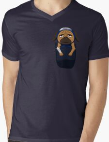Pakkun in your pocket! Mens V-Neck T-Shirt