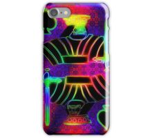 Double Neon King of Spades iPhone Case/Skin