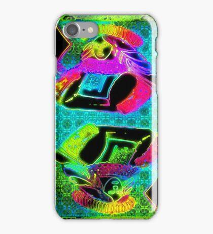Double Neon Queen of Diamonds iPhone Case/Skin