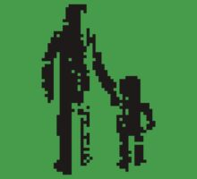 1 bit pixel pedestrians (black) Kids Clothes
