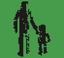 1 bit pixel pedestrians (black) Baby Tee