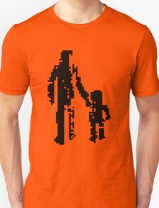 1 bit pixel pedestrians (black) Unisex T-Shirt