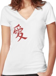 Gaara's Love Tattoo Women's Fitted V-Neck T-Shirt