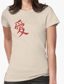 Gaara's Love Tattoo Womens Fitted T-Shirt