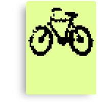 1 bit pixel bike (black) Canvas Print