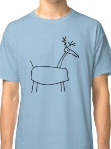 Poro the Reindeer (outline black) Classic T-Shirt