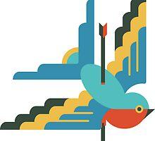 Flat design swallow by JamesShannon