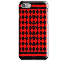 Black and Red Pattern iPhone Case/Skin