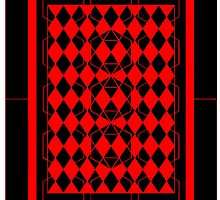 Black and Red Pattern by ronmockjunior