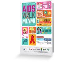 Aids Walk Miami 2016 Greeting Card