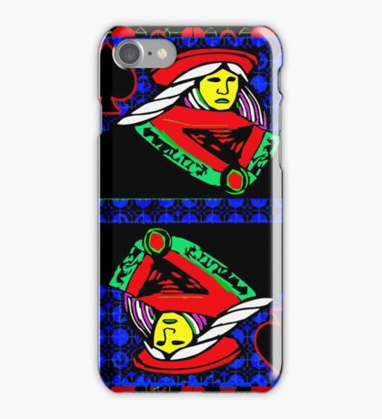 Solarized Queen of Spades iPhone Case/Skin
