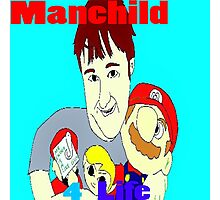 Manchild 4 Life Cartoony Version Photographic Print