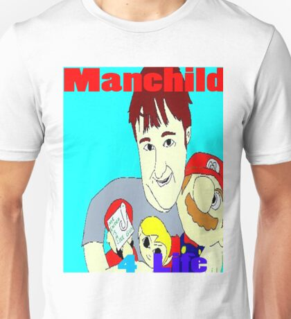 Manchild 4 Life Cartoony Version Unisex T-Shirt