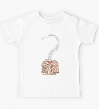 Captain Hook Once Upon A Time Typography Kids Tee