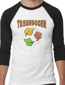 """Earth Day """"Treehugger"""" Men's Baseball ¾ T-Shirt"""