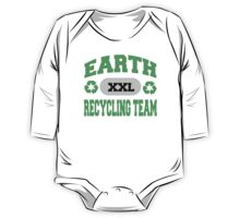 Earth Day Recycling Team One Piece - Long Sleeve