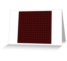 Red and Black Grid Pattern Greeting Card