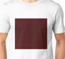 Red and Black Grid Pattern Unisex T-Shirt