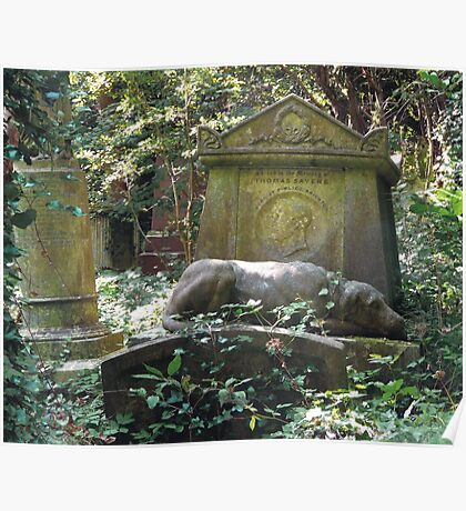 Highgate Cemetery the Chief Mourner Poster
