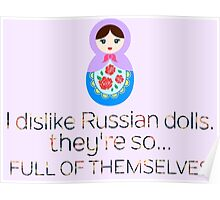 Russian Doll Pun Poster