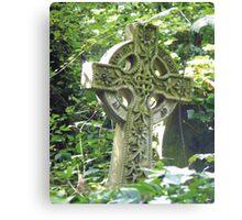 Highgate Cemetery Celtic Cross Canvas Print