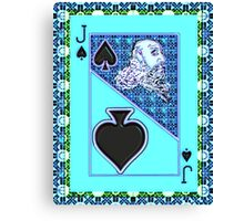 Art Gloss Jack of Spades Canvas Print