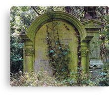 Highgate Cemetery Rosetta Gravestone Canvas Print