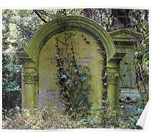 Highgate Cemetery Rosetta Gravestone Poster